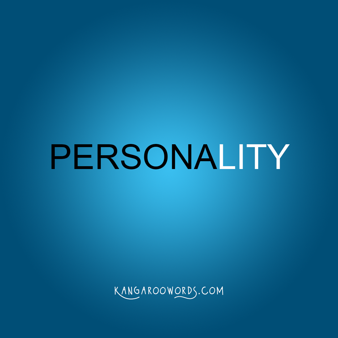 Kangaroo word: personality. Joey word: persona.